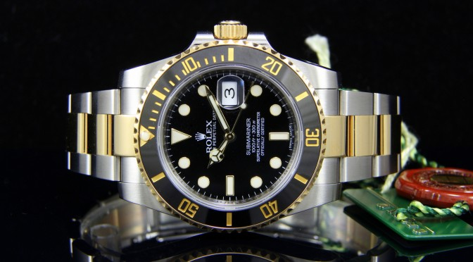 ROLEX TWO-TONE SUBMARINER 18K YELLOW GOLD & STAINLESS STEEL