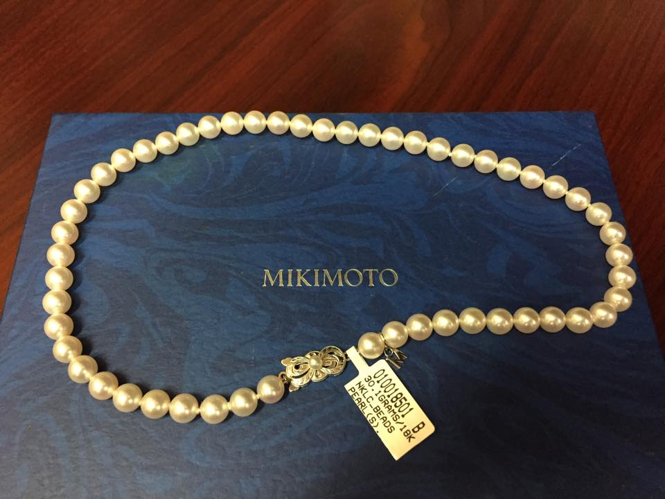 Mikimoto Pearl Necklace with Box - $1,200