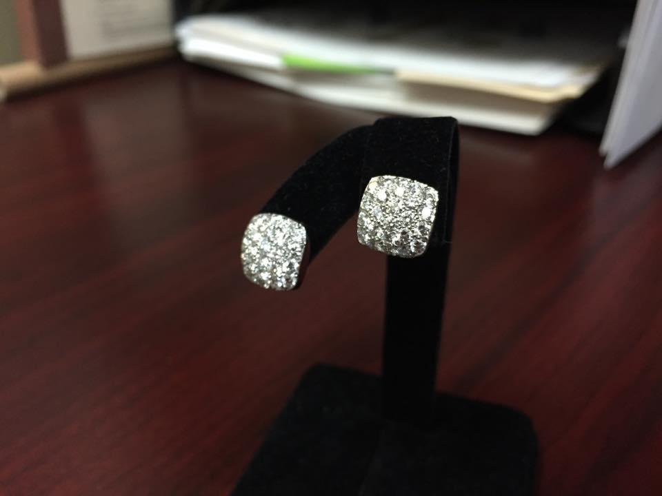 Carelle 18k Gold Diamond Earrings - $3,000