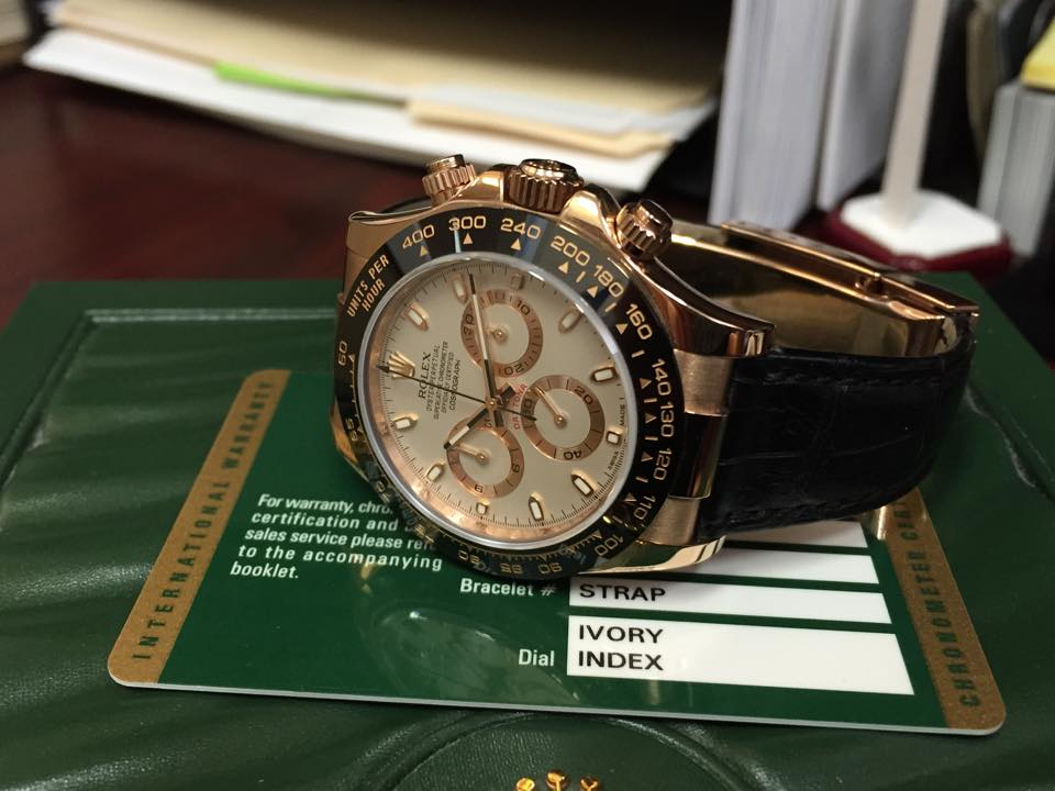 Rolex Daytona Rose Gold - $18,500