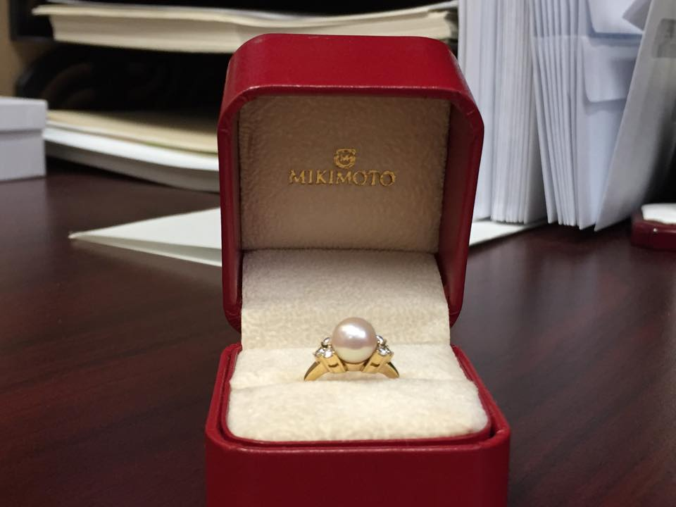 Mikimoto Pearl 18k Ring with Box - $1,100