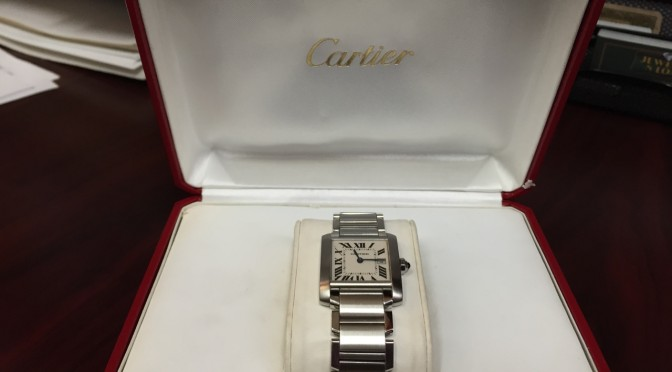 Cartier Tank Francaise with Box – $2000