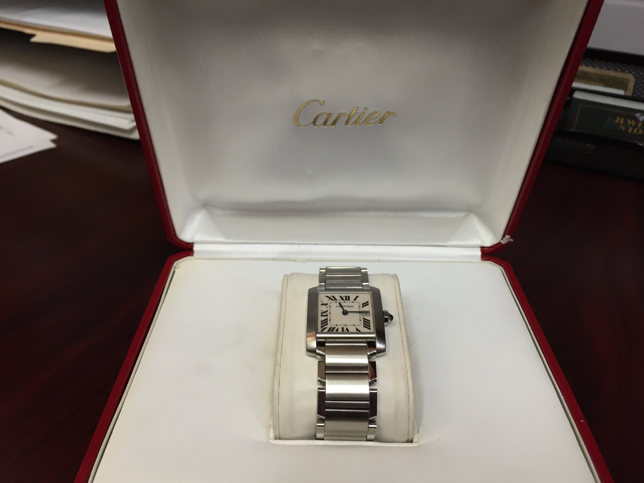 Cartier Tank Francaise with Box - $2000