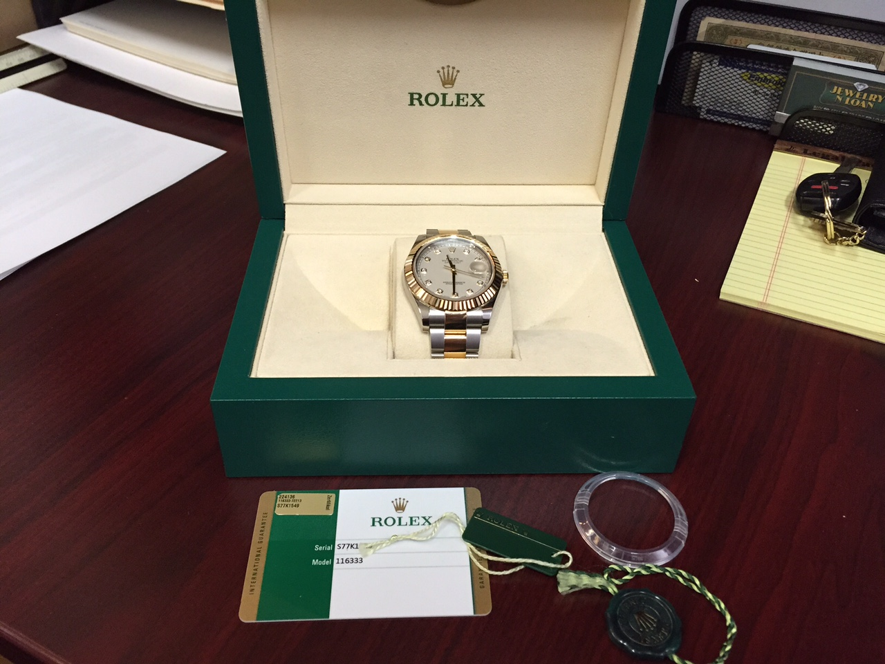 Rolex Two-Tone Datejust II - $10,500