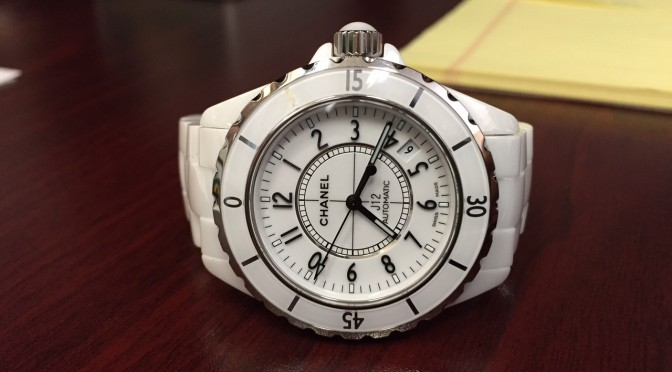 Chanel J12 Ceramic Watch – $3,000