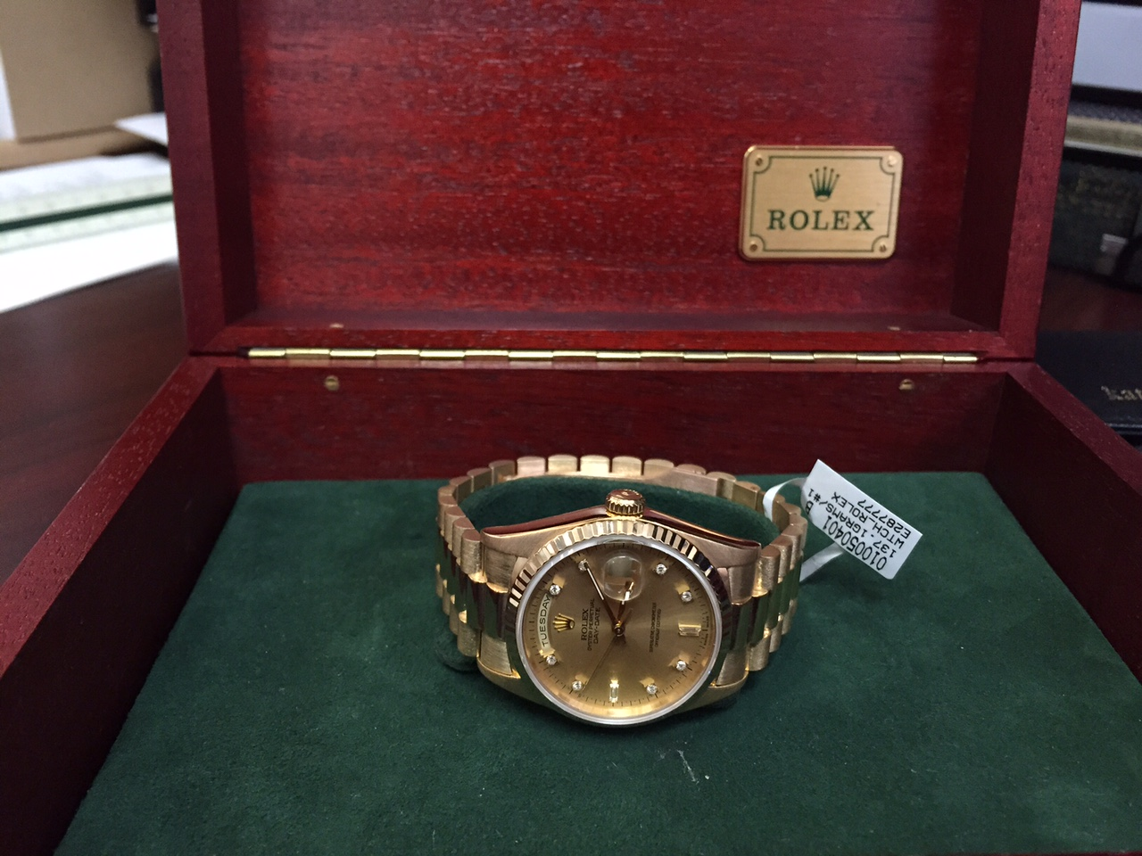 Rolex President Diamond Day-Date - $11,000