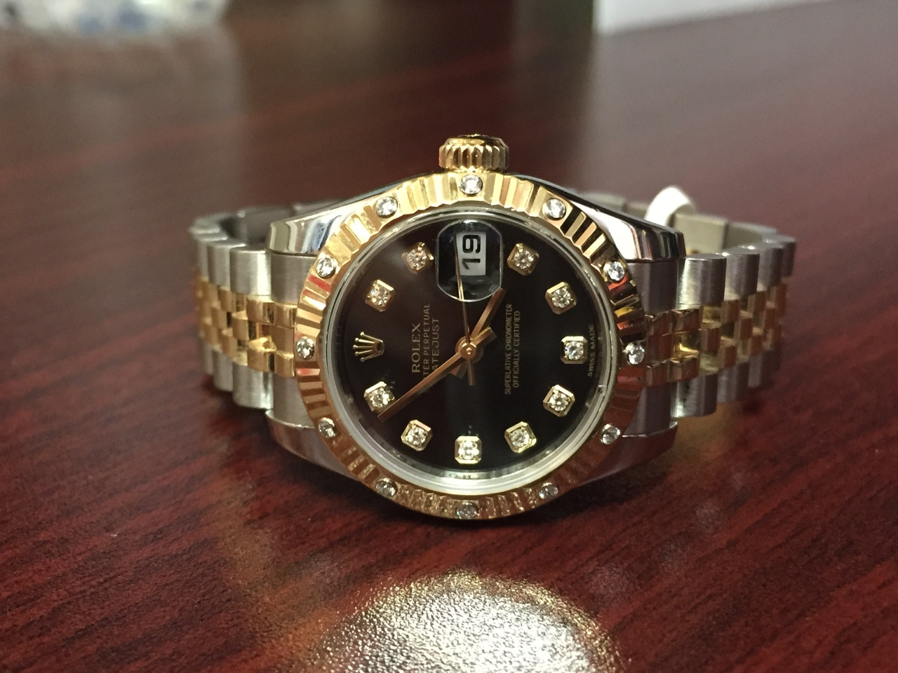 Rolex Datejust Two-Tone with Diamonds - $7,000