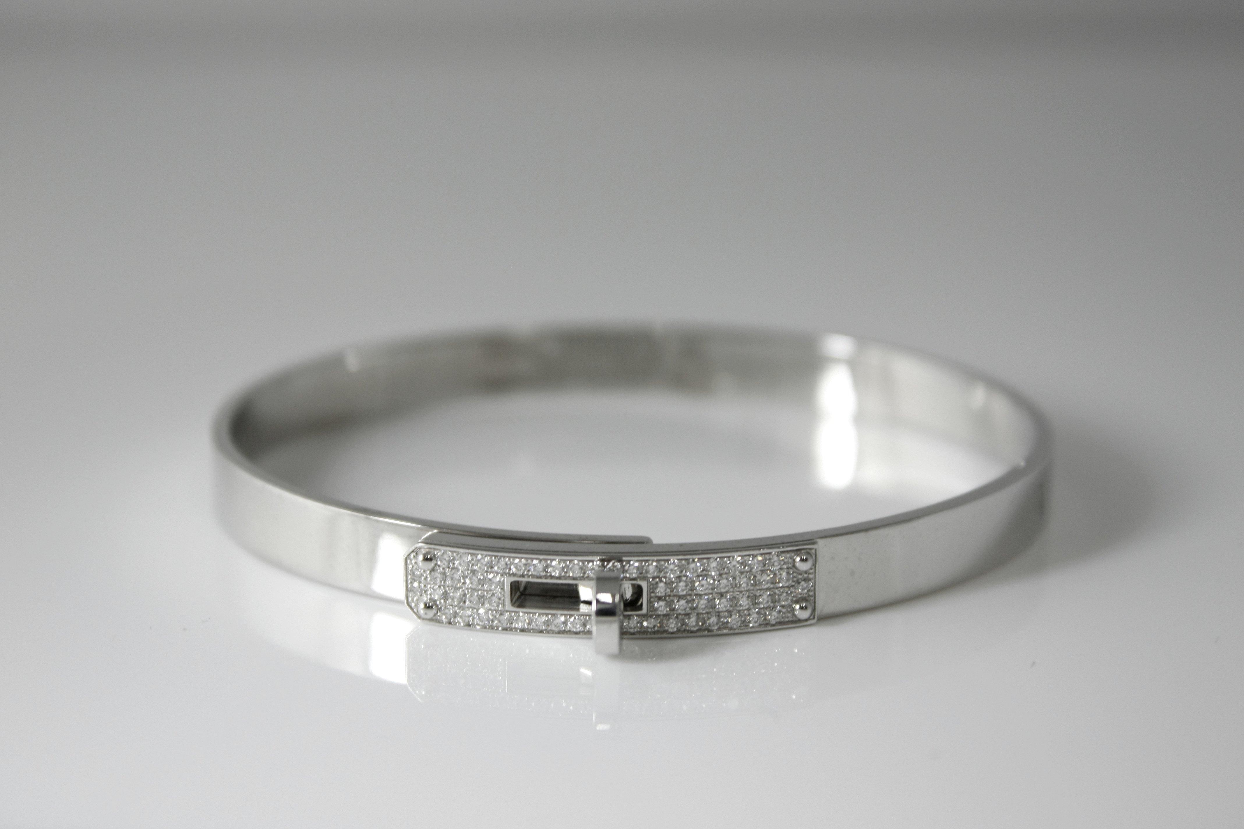 Hermes Kelly Bracelet Gold & Diamonds - $9,500