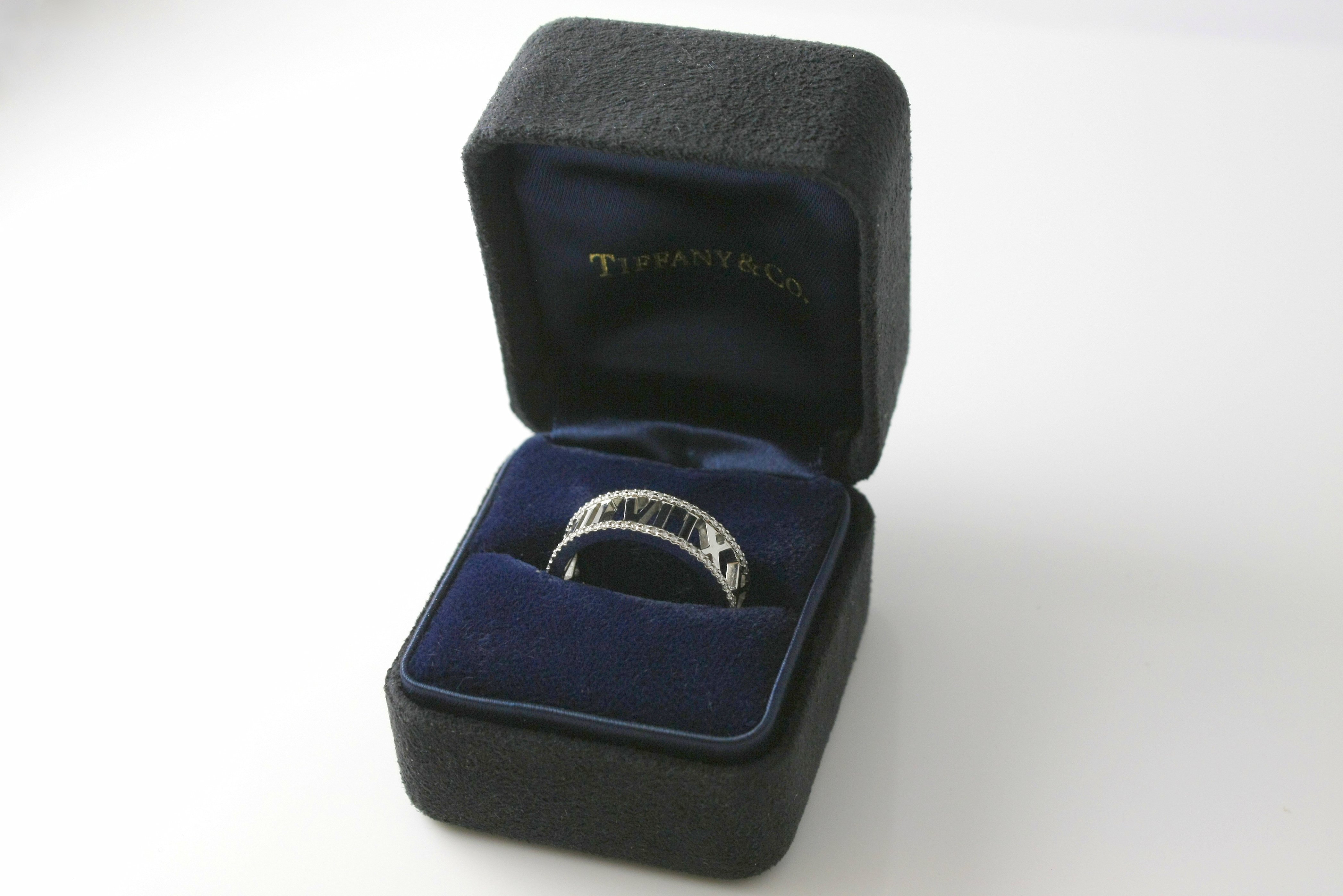 Tiffany & Co. Atlas 18k White Gold Diamond Ring - $2,100